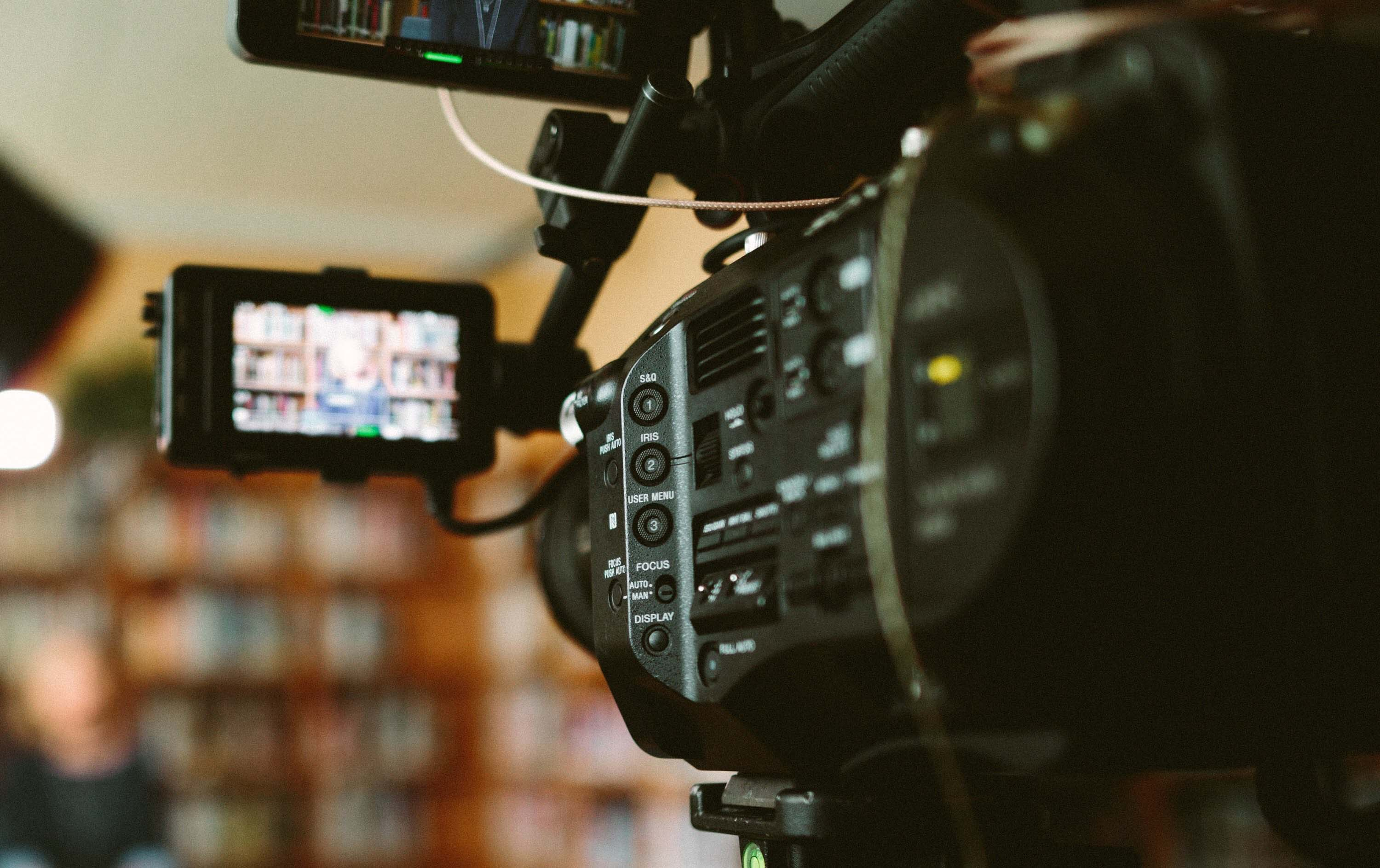 Sony FS7 Camera shooting interview for video production